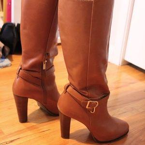 Banana Republic Knee-High Tan Leather Boots